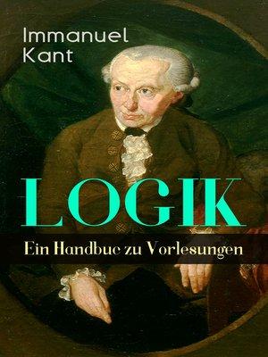 cover image of Logik--Ein Handbuch zu Vorlesungen