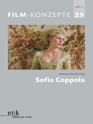 cover image of FILM-KONZEPTE 29--Sofia Coppola