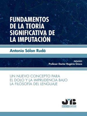 cover image of Fundamentos de la teoría significativa de la imputación
