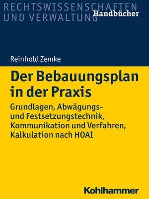 cover image of Der Bebauungsplan in der Praxis