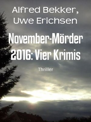 cover image of November-Mörder 2016
