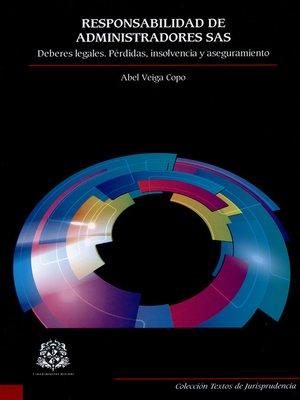 cover image of Responsabilidad de administradores SAS