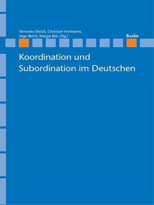 cover image of Koordination und Subordination im Deutschen