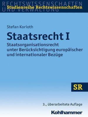 cover image of Staatsrecht I