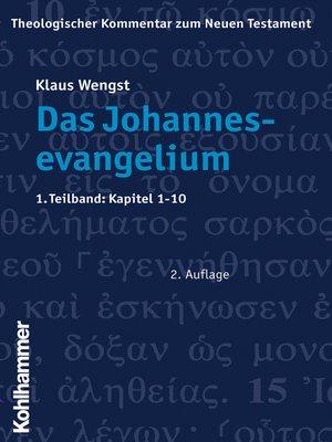 cover image of Das Johannesevangelium