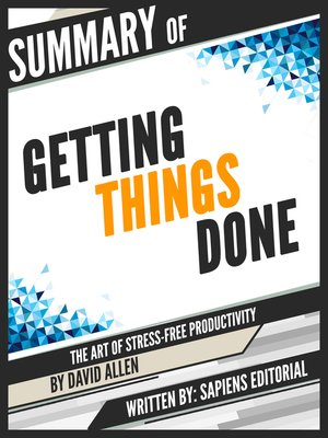 "cover image of Summary of ""Getting Things Done"