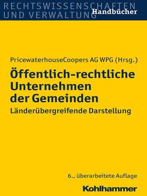 cover image of Öffentlich-rechtliche Unternehmen der Gemeinden