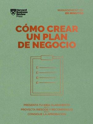 cover image of Cómo crear un plan de negocios