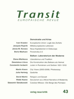 cover image of Transit 43. Europäische Revue