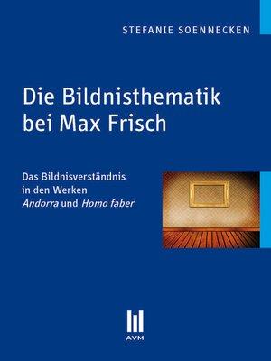 cover image of Die Bildnisthematik bei Max Frisch