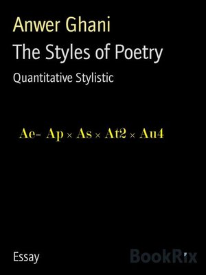 cover image of The Styles of Poetry
