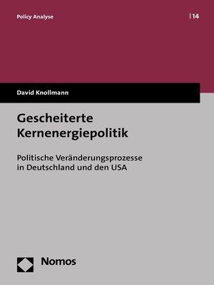 cover image of Gescheiterte Kernenergiepolitik