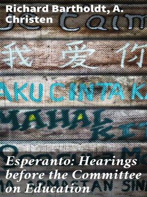 cover image of Esperanto