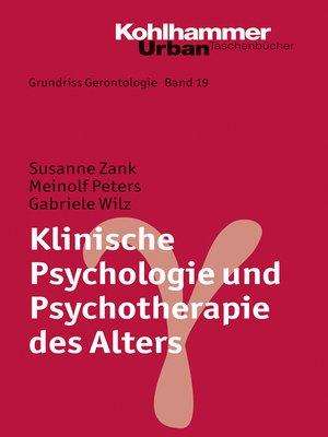 cover image of Klinische Psychologie und Psychotherapie des Alters