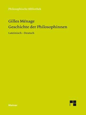 cover image of Geschichte der Philosophinnen