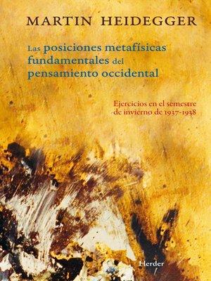 cover image of Posiciones metafísicas fundamentales del pensamiento occidental