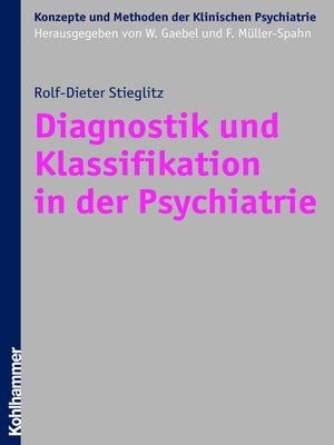 cover image of Diagnostik und Klassifikation in der Psychiatrie
