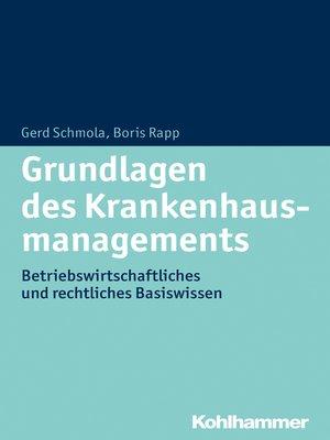 cover image of Grundlagen des Krankenhausmanagements