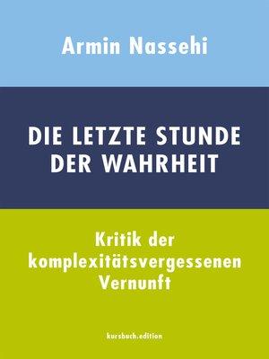 cover image of Die letzte Stunde der Wahrheit
