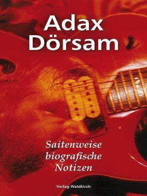cover image of Saitenweise biografische Notizen