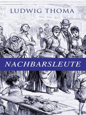 cover image of Nachbarsleute