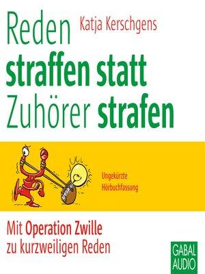 cover image of Reden straffen statt Zuhörer strafen