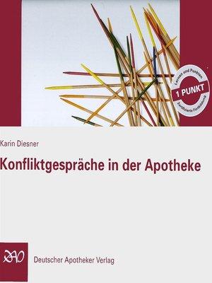 cover image of Konfliktgespräche in der Apotheke