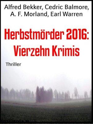 cover image of Herbstmörder 2016