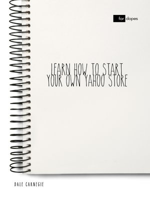 cover image of Learn How to Start Your Own Yahoo Store