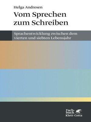 cover image of Vom Sprechen zum Schreiben