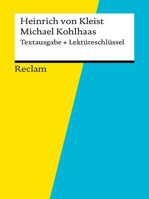 cover image of Textausgabe + Lektüreschlüssel. Heinrich von Kleist