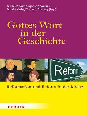 cover image of Gottes Wort in der Geschichte