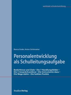 cover image of Personalentwicklung als Schulleitungsaufgabe