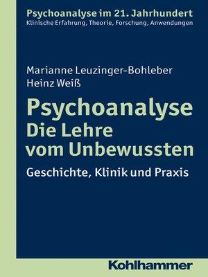 cover image of Psychoanalyse--Die Lehre vom Unbewussten