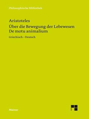 cover image of De motu animalium / Über die Bewegung der Lebewesen