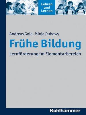 cover image of Frühe Bildung