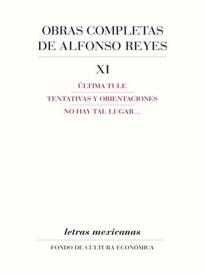 cover image of Obras completas, XI