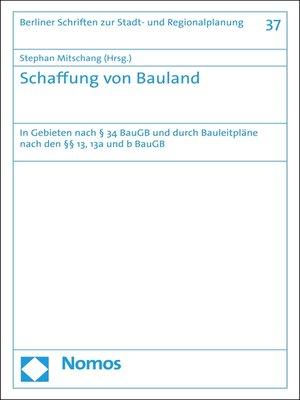 cover image of Schaffung von Bauland