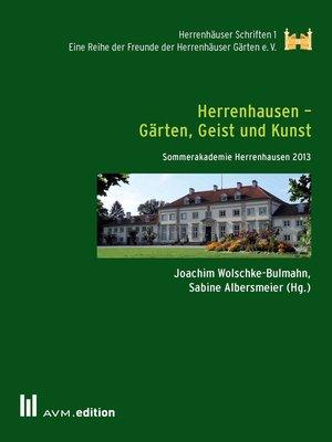 cover image of Herrenhausen--Gärten, Geist und Kunst