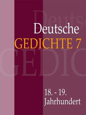 cover image of Deutsche Gedichte 7