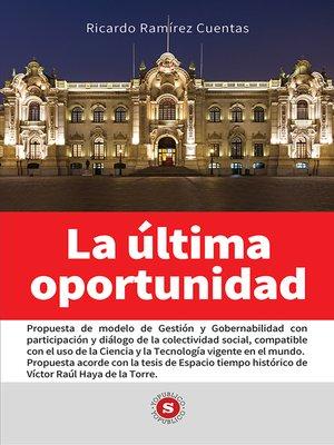 cover image of La última oportunidad