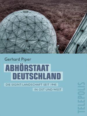 cover image of Abhörstaat Deutschland (Telepolis)