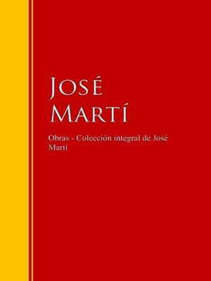 cover image of Obras--Colección de José Martí