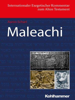 cover image of Maleachi