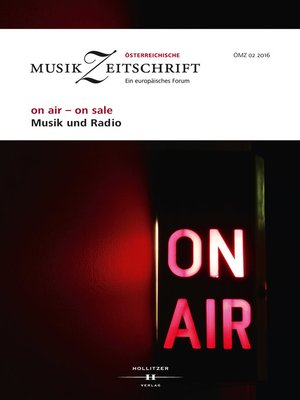 cover image of on air--on sale. Musik und Radio