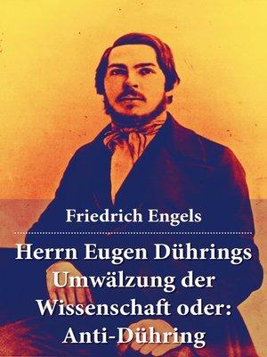 cover image of Herrn Eugen Dührings Umwälzung der Wissenschaft oder