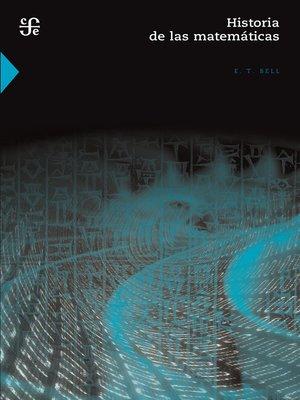 cover image of Historia de las matemáticas