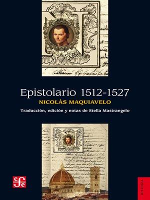 cover image of Epistolario 1512-1527