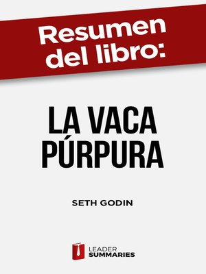 "cover image of Resumen del libro ""La vaca púrpura"" de Seth Godin"