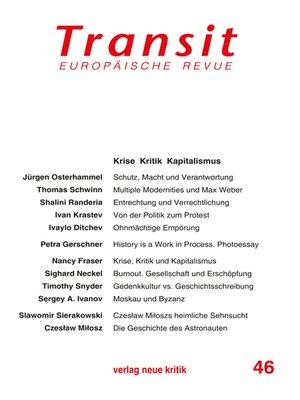 cover image of Transit 46. Europäische Revue